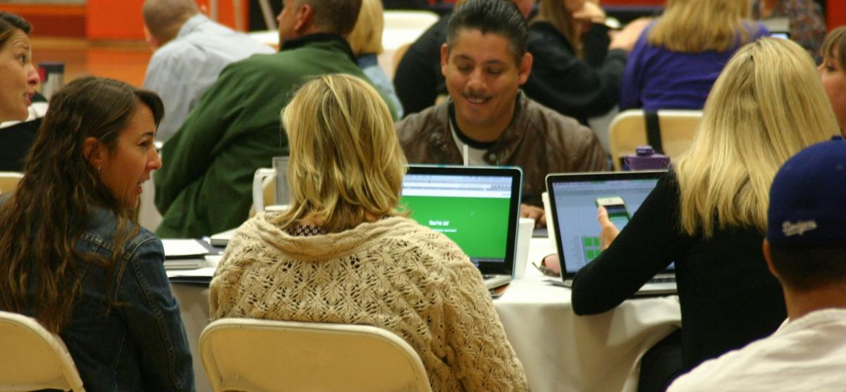 All-Valley Teachers Conference tech in use