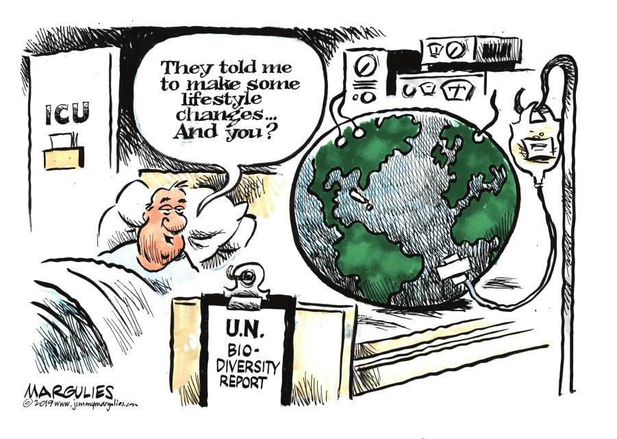Cartoon: Earth ailing