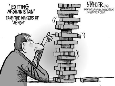 Editorial Cartoon: Jenga