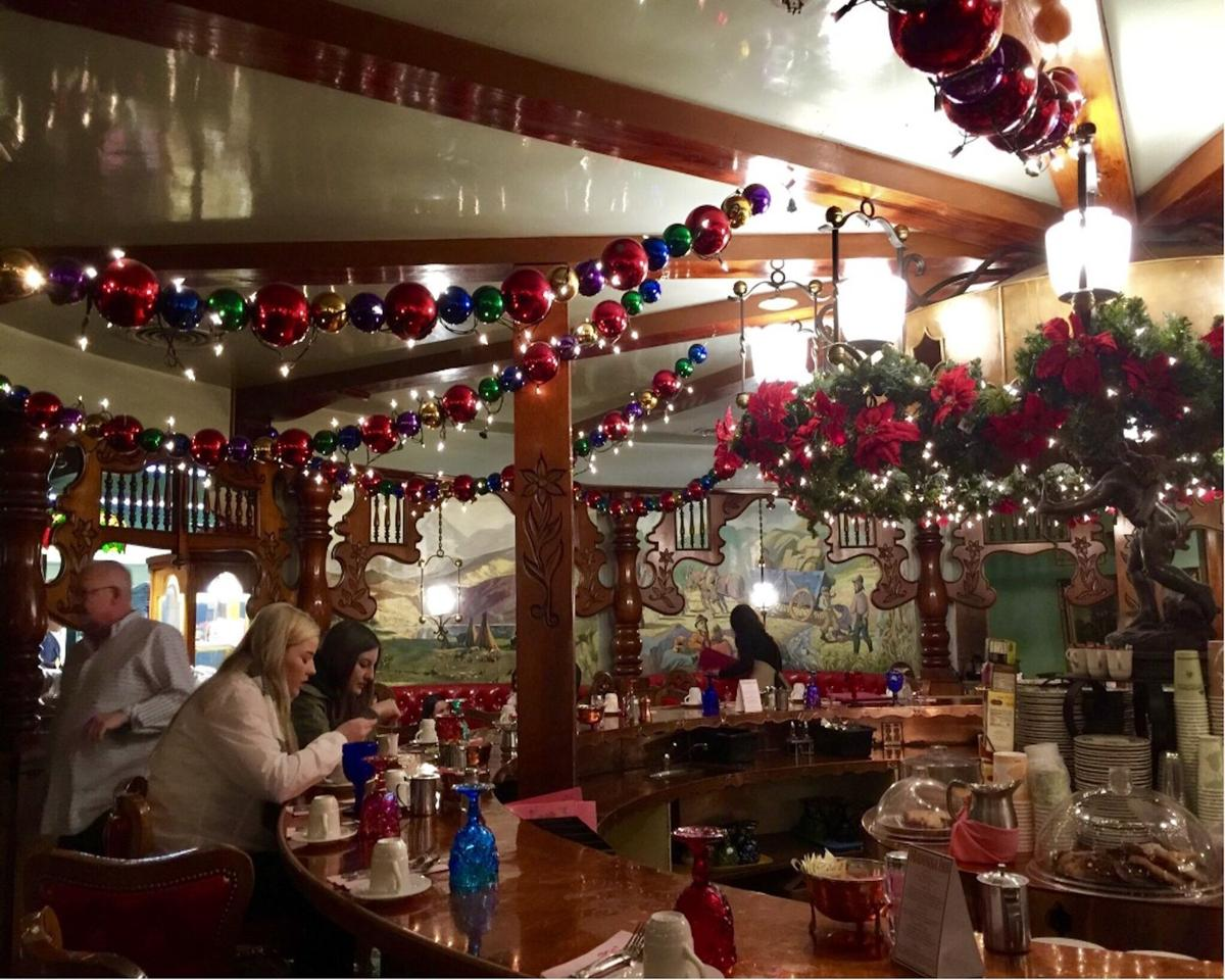 The Madonna Inn exudes holiday cheer.