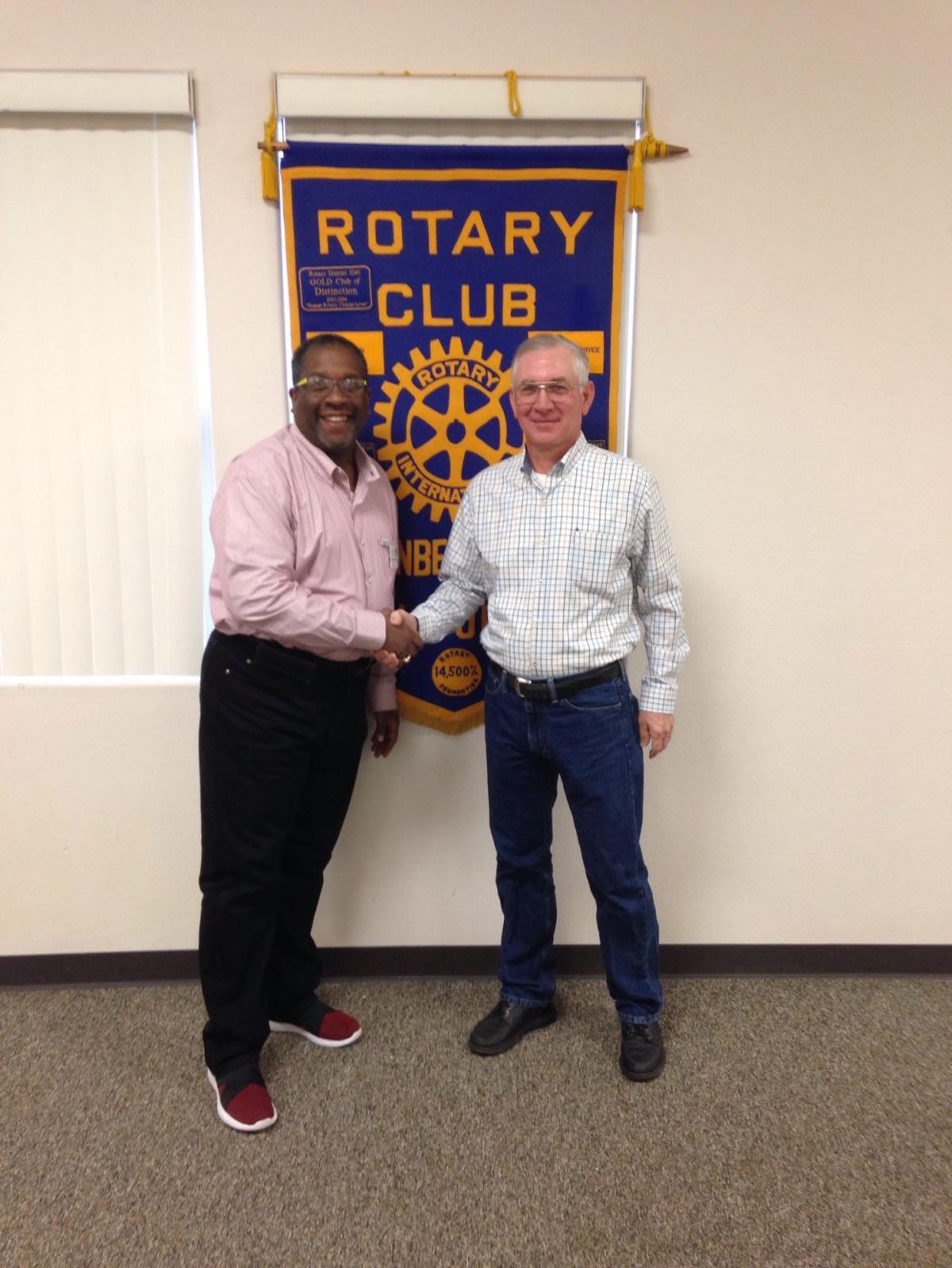 Vandenberg Village Association president speaks to Rotary Club