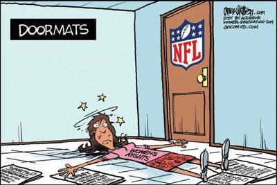 Cartoon: NFL's doormat