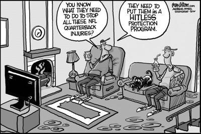 Editorial Cartoon: Injuries