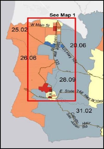 Hard to count areas of Santa Barbara County