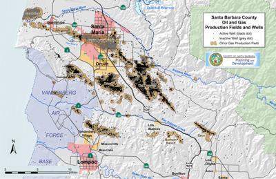 Northern Santa Barbara County oil map