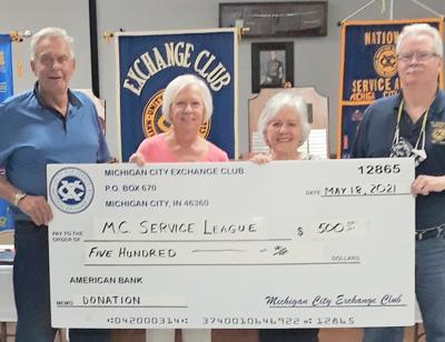 Echange Club donates $500 to Service League