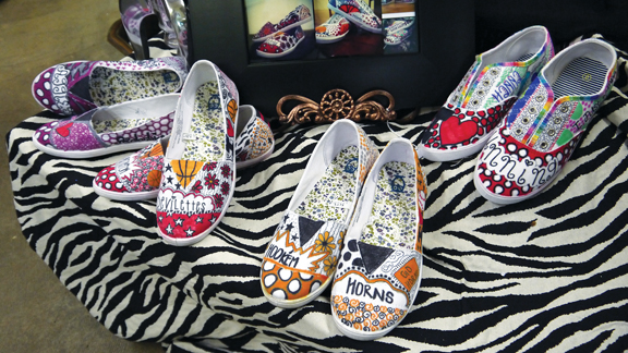 Selection of custom designed shoes by Kelsey
