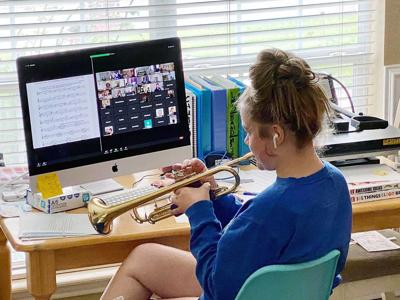 Lufkin High School sophomore attends virtual trumpet camp with instructors from around the world