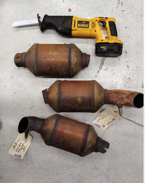 Catalytic converters and DeWalt Sawzall