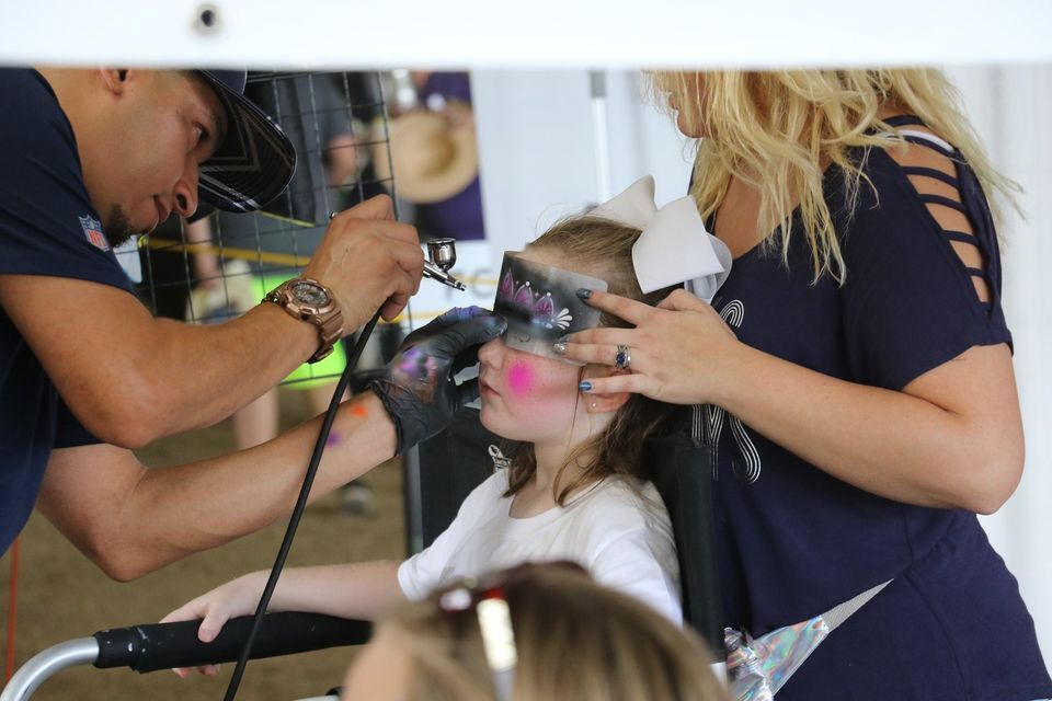 Festival face-painting
