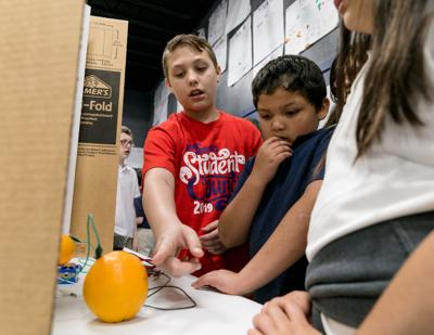 Pineywoods Community Academy students create, demonstrate during science fair