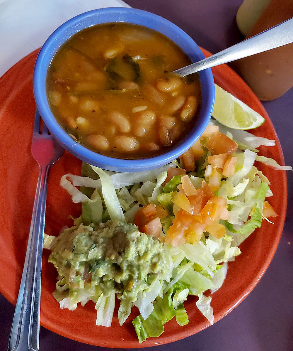 Parradillada Mixta charro beans and guacamole salad.jpg