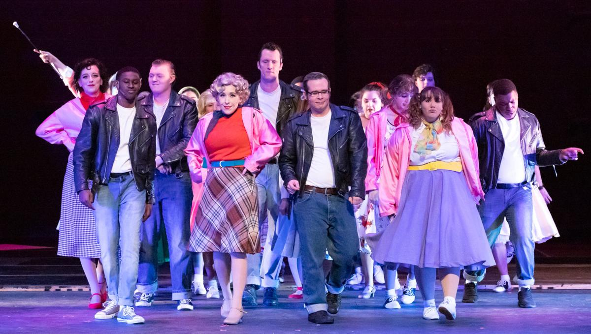 The cast of Grease performs at Angelina College