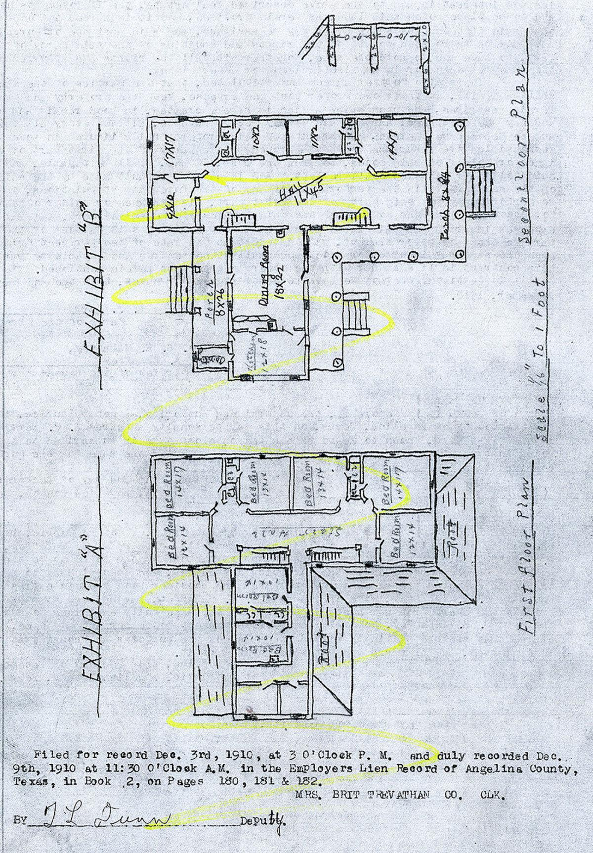 Mahaffey Hotel floor plan