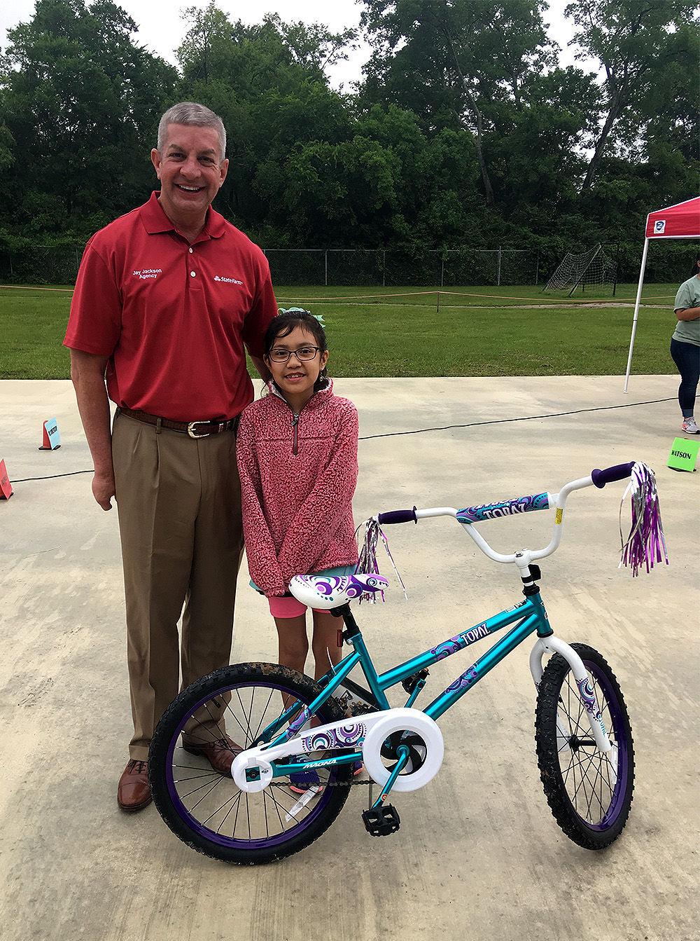 Third-grade girl bike winner