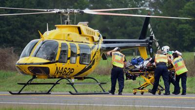Livingston man flown to Tyler, two kids transported to Lufkin hospital after truck collides with semi-trailer on 103 west at Highway 7