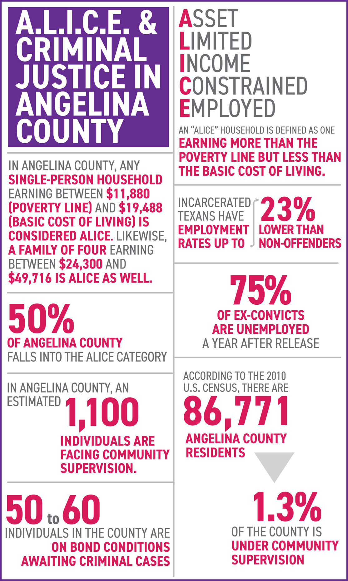 2019 Poverty Probation Infographic