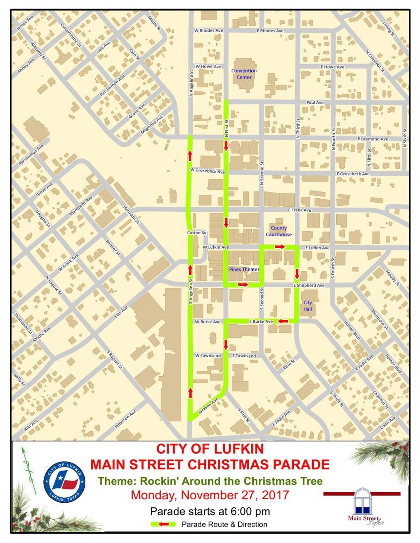 Lufkin Christmas Parade 2019 Christmas parade route | | lufkindailynews.com