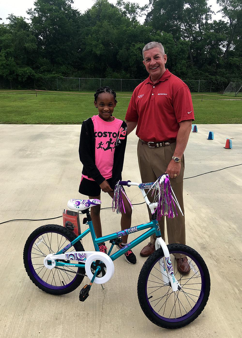 Fifth-grade girl bike winner