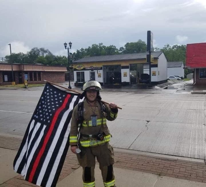 Joseph Warne, Macomb Township firefighter and Neighbors United founder and president