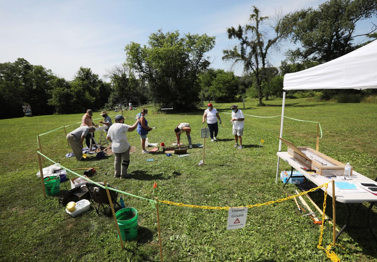 Archaeological dig at the Historic Indian Agency House