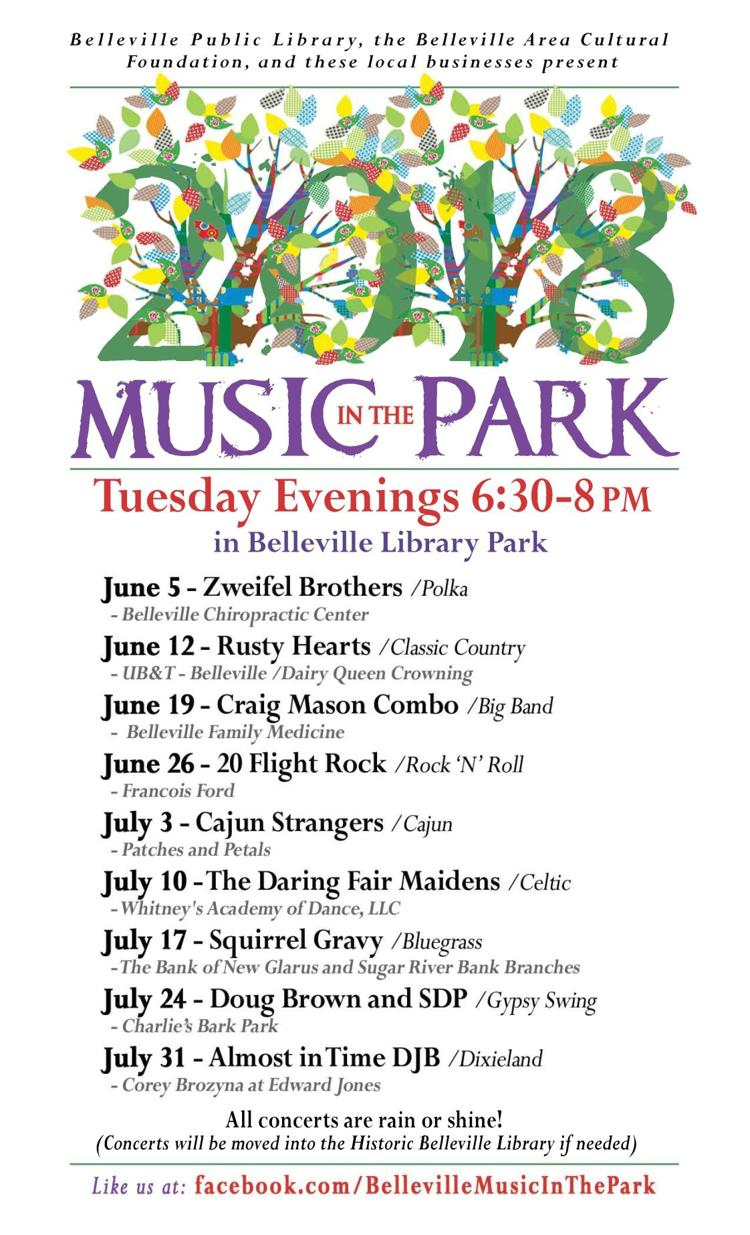 Belleville Music in the Park 2018