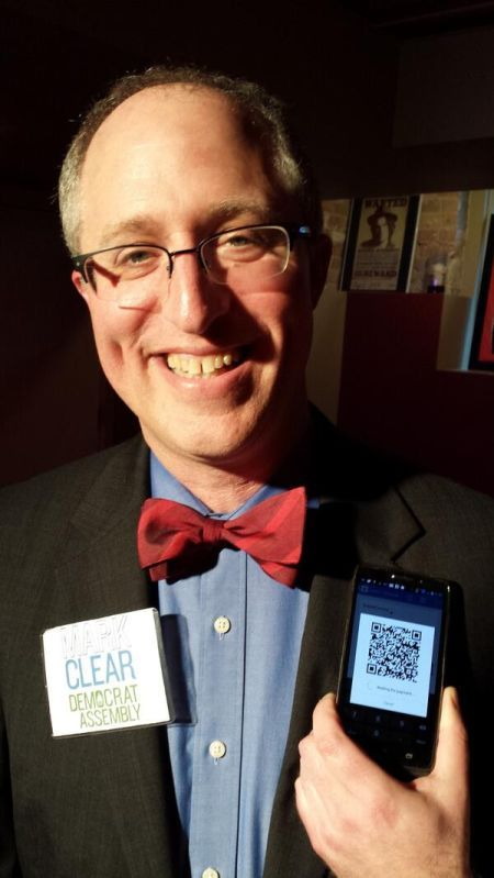 Mark Clear accepts bitcoin contribution