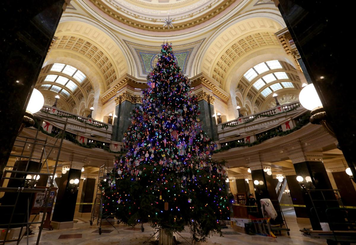 Capitol Christmas Tree.Photos State Capitol Christmas Tree Decorating Local News