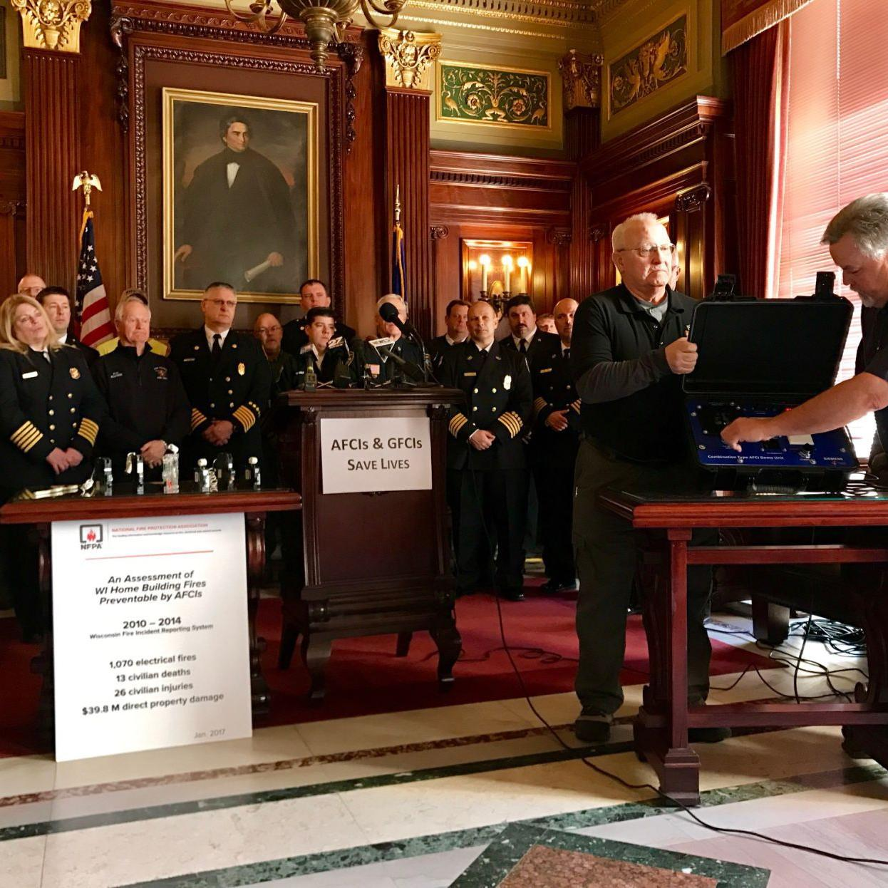 Wisconsin fire officials ask Gov  Walker to adopt proposed