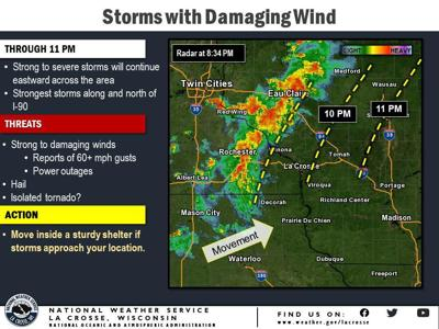 National Weather Service storms NW Wisconsin graphic 9-25-19