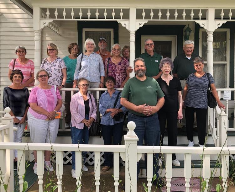 Visitors to the Sterling North home, September 2019