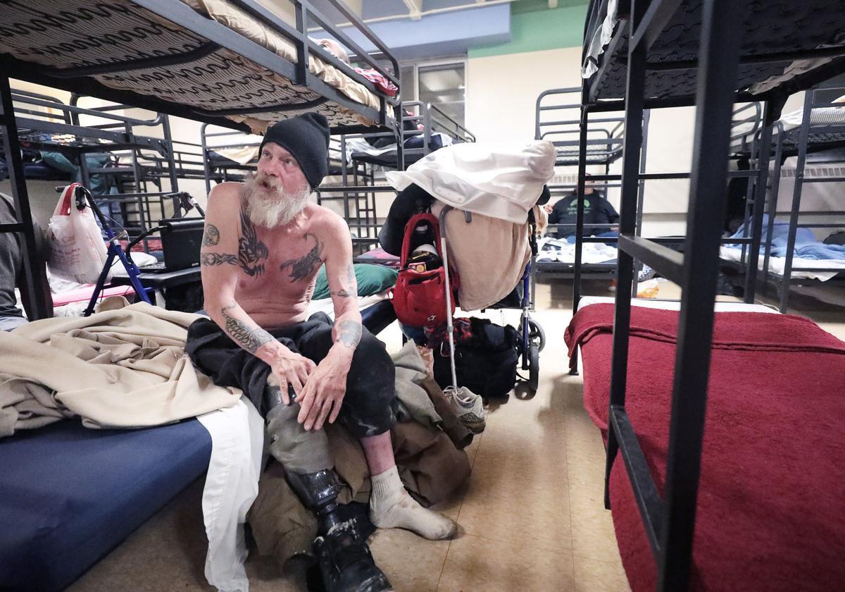 Men's homeless shelter - bunk beds