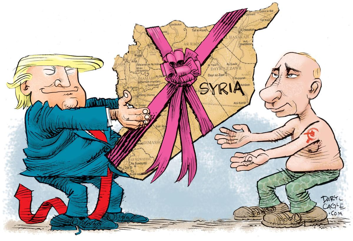 Trump Gift Wraps Syria In Daryl Cagle S Latest Political Cartoon Opinion Cartoon Madison Com
