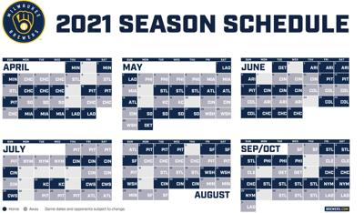 Milwaukee Brewers 2021 schedule