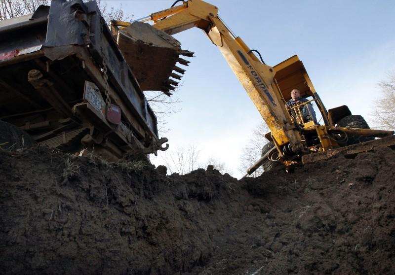 backhoe file photo construction development