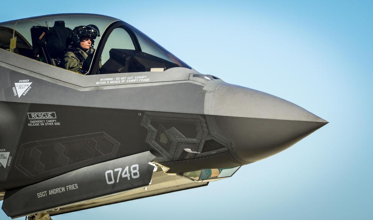 F-35 Lightning II pilot prepares to refuel