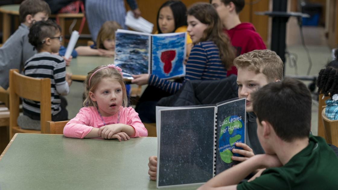 Jefferson Middle School authors teach younger students through their self-made books