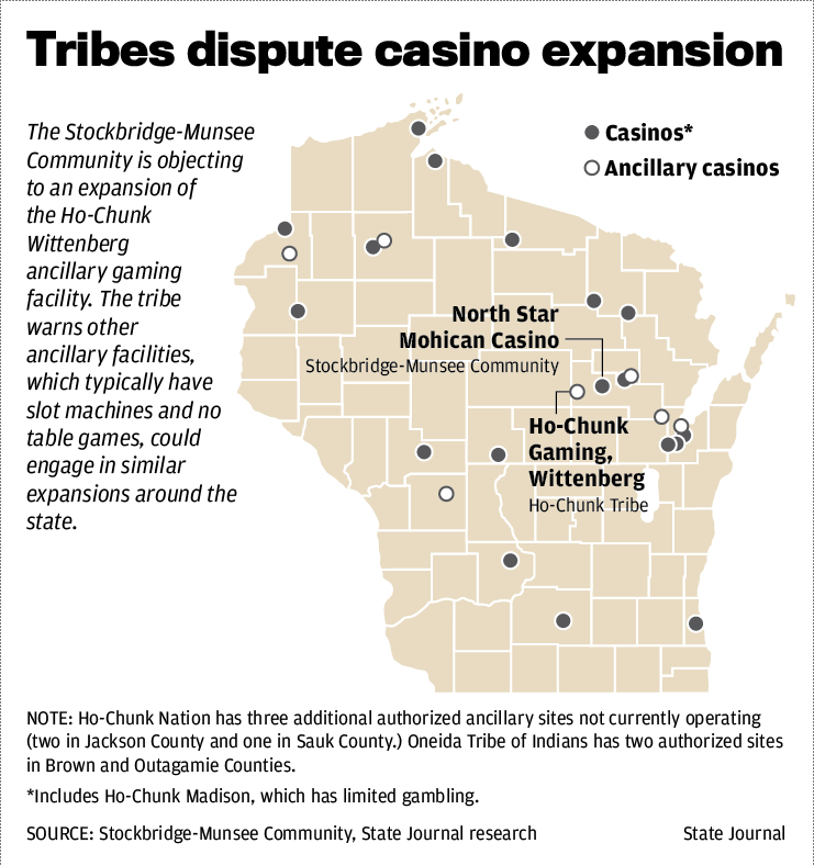 Tribes dispute casino expansion