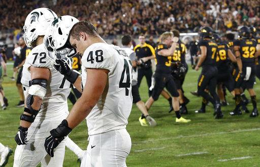 ASU beats Michigan State, AP photo