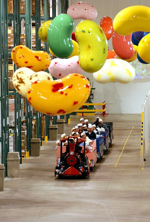 Jelly Belly tour tram