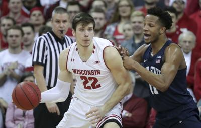 65a94b81953b Ethan Happ makes Wisconsin Badgers history with All-Big Ten ...