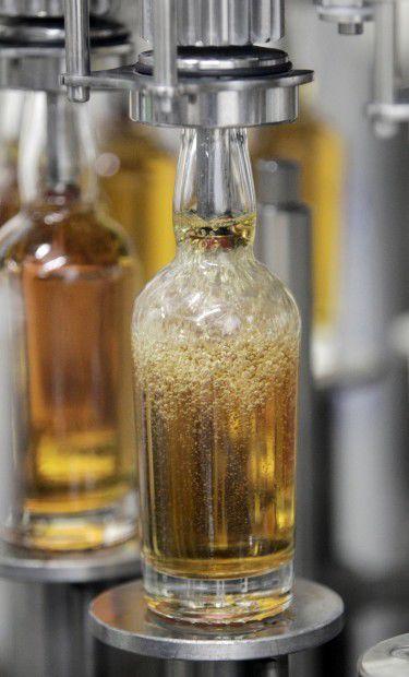 Wollersheim brandy being filled