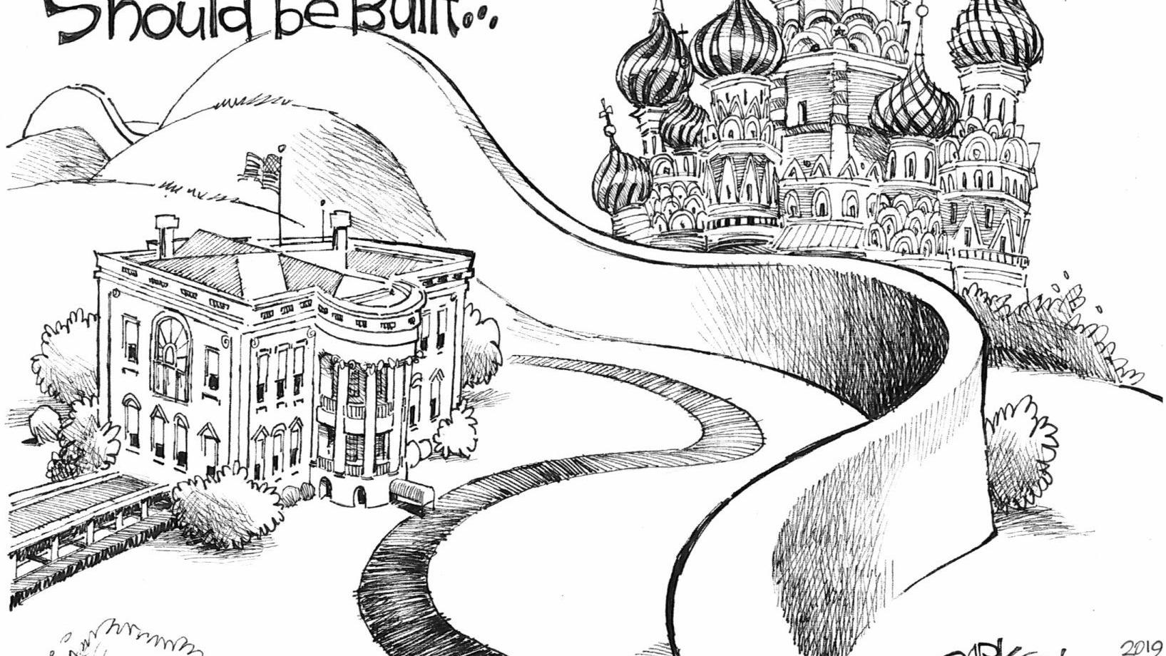 A wall everyone can support, in John Darkow's latest political cartoon