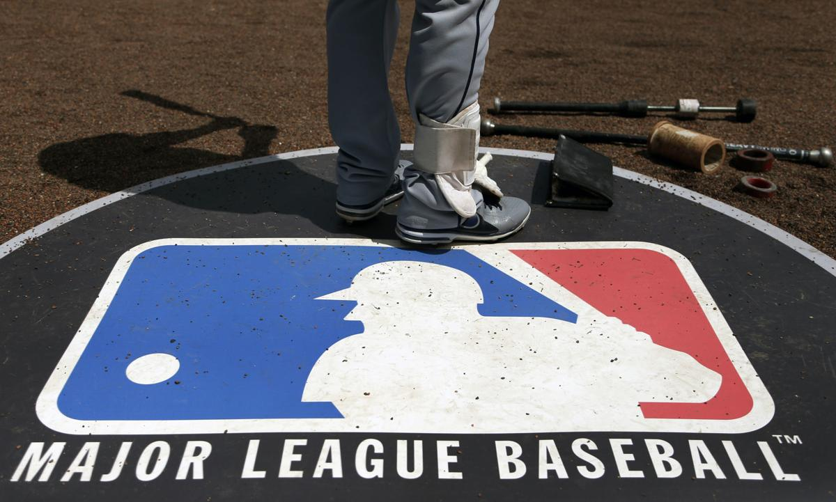 MLB logo, AP generic file photo