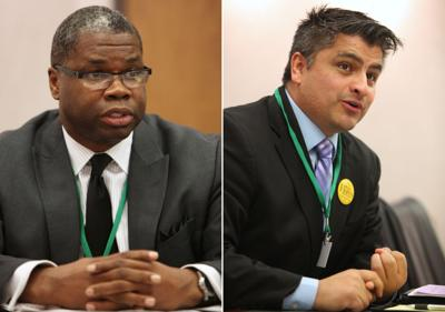 Madison School Board candidates Flores and Strong