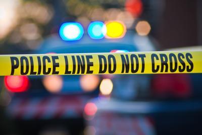 Crime scene tape, police line do not cross