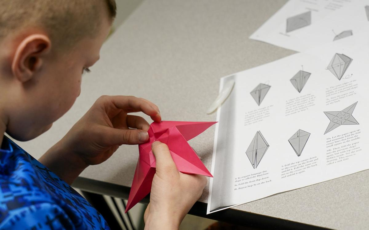 Origami boxes — models folded by Michał Kosmulski | 748x1200