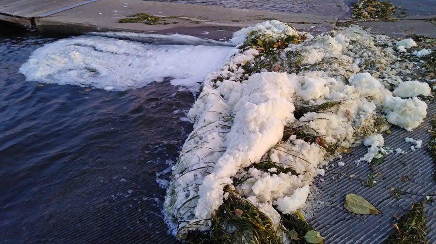 PFAS foam on Starkweather Creek