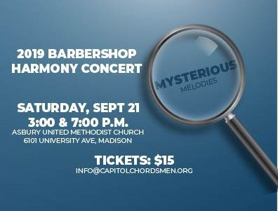 Capitol Chordsmen Barbershop Harmony Concert