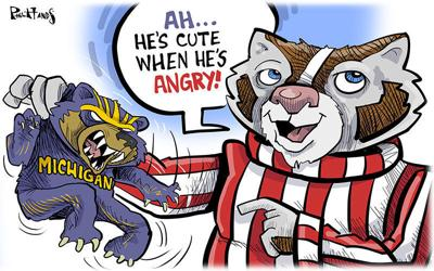 Bucky finds Michigan adorable
